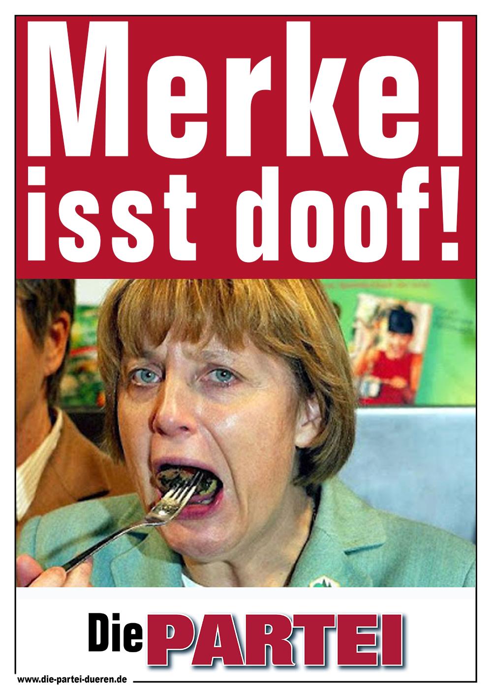 die-Partei-Düren-Merkel-isst-doof